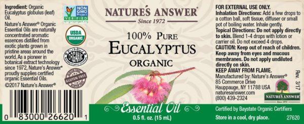 Orgaaniline eukalüpti eeterlik õli