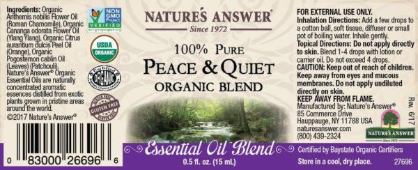 Orgaaniline Rahu ja Vaikuse eeterlik õli