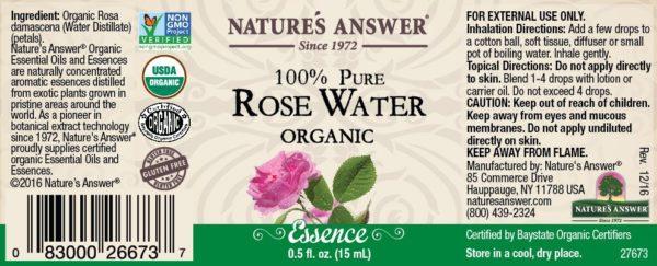 Orgaaniline Roosivee eeterlik õli