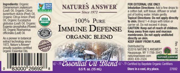 Orgaaniline Immuunsuse kaitse eeterlik õli
