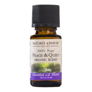 ORGAANILINE RAHU JA VAIKUSE EETERLIK ÕLI, Nature's Answer Organic Peace and Quiet, 15ml