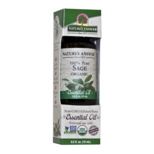 Nature's Answer Organic Sage, Orgaaniline Salvei eeterlik õli 15ml
