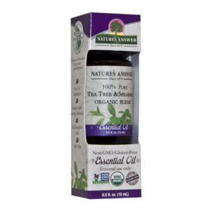 Nature's Answer Organic Tea Tree and Spearmint, Orgaaniline Teepuu ja mündi eeterlik õli 15ml