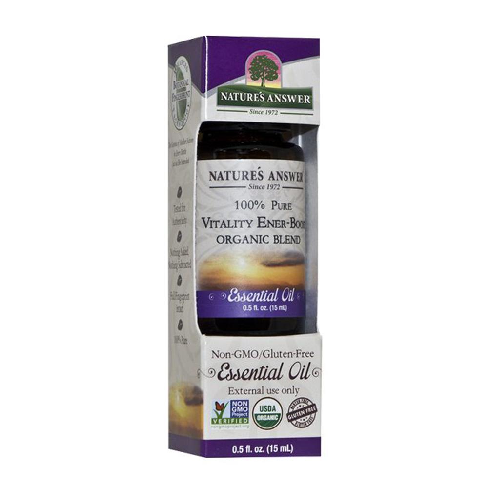 Nature´s Answer Vitality Ener-Boost organic blend, Orgaaniline Vitaalsust ja Energiat tõstev eeterlike õlide segu 15ml