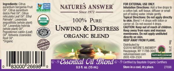 Orgaaniline lõdvestumise ja stressi vastu eeterlik õli