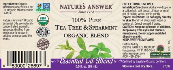 Orgaaniline Teepuu ja mündi eeterlik õli