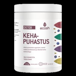 KEHAPUHASTUS DETOX, Ecosh Life Body Detox, 500g pulber