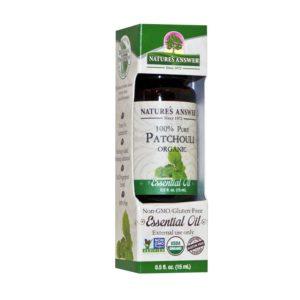 ORGAANILINE PATŠULI EETERLIK ÕLI, Nature's Answer Oil Organic Patchouli, 15ml