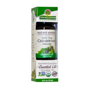 ORGAANILINE SEEDRIPUU EETERLIK ÕLI, Nature's Answer Organic Cedarwood oil, 15ml