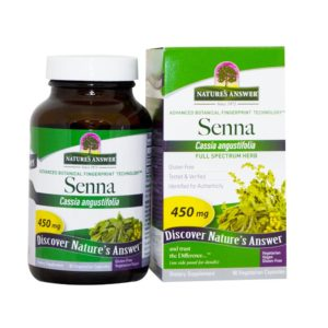 SENNA LEHT, Nature's Answer Senna leaf, 90 kapslit