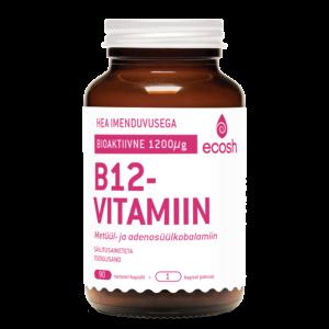 B12 VITAMIIN, Ecosh Life Bioactive vitamin B12, 90 kapslit