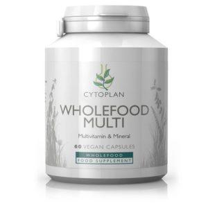 MULTIVITAMIINIDE JA MINERAALIDE SEGU, Cytoplan Wholefood multi, 60 kapslit