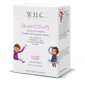 OMEGA 3 LASTELE, WHC QuattrO3 + PS